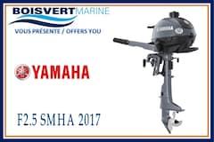 2017 YAMAHA F2.5 SMHA NEUF (PIED COURT)