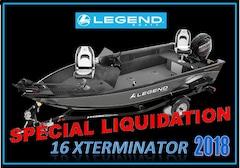 2018 Legend Boats 16 XTERMINATOR $ SPÉCIAL LIQUIDATION $