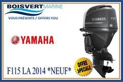 2014 YAMAHA F115 LA NEUF (LIQUIDATION)