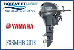 2018 YAMAHA F8SMHB (PIED COURT) (DÉMARRAGE MANUEL)