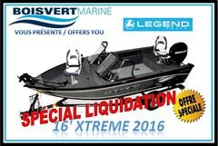 2016 Legend Boats *16 XTREME (NEUF)  $ SPÉCIAL LIQUIDATION $