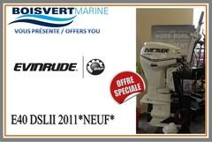 2011 EVINRUDE E40DSL NEUF (LIQUIDATION)