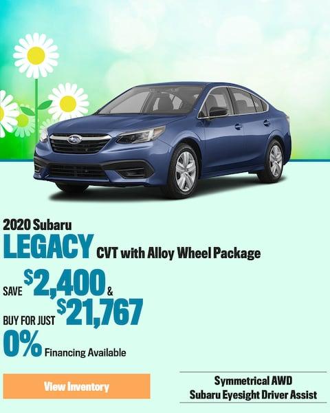 2020 Subaru Legacy CVT with Alloy Wheel Package