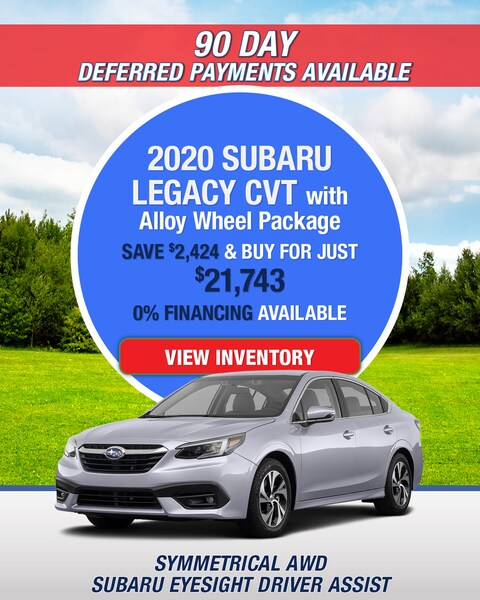 2020 Subaru Legacy CVT with Alloy Wheel Package