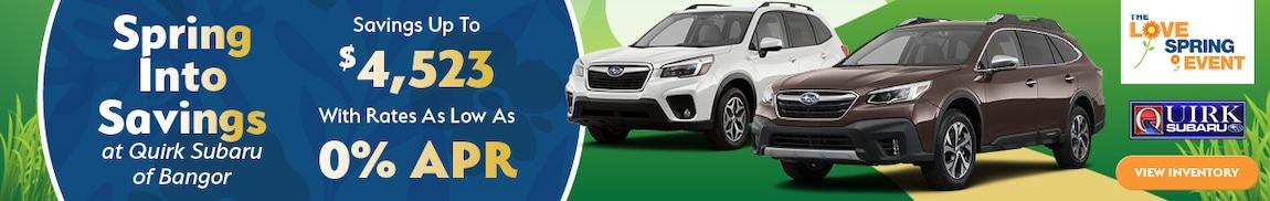 Spring Into Savings at Quirk Subaru of Bangor