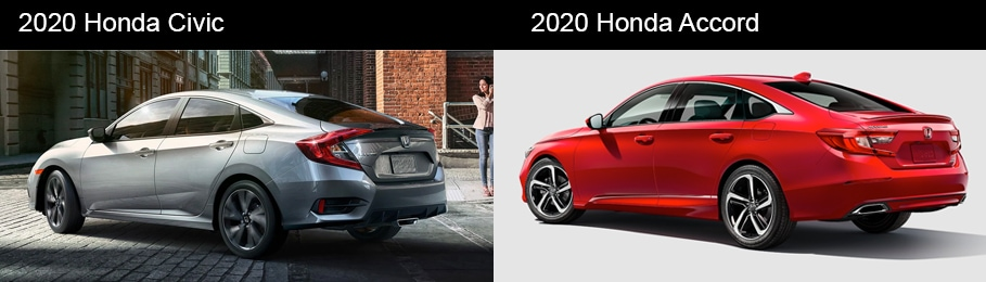 2020 Honda Accord vs 2020 Honda Civic Interior and Space