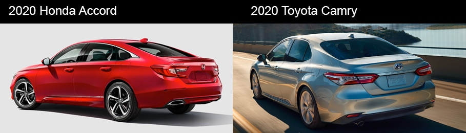 2020 Honda Accord vs 2020 Toyota Camry Performance