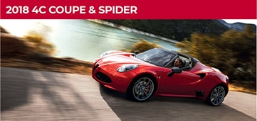 2018 Alfa Romeo 4c Coupe and Spider