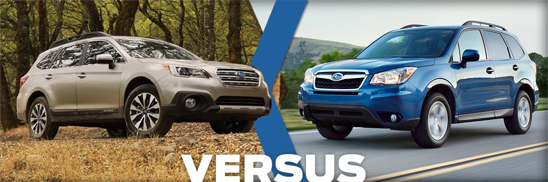Outback Vs Forester >> 2016 Subaru Outback Vs Forester Feature Detail Comparison