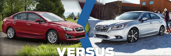 Compare Subaru Models >> 2016 Subaru Impreza Vs Legacy Model Feature Comparison