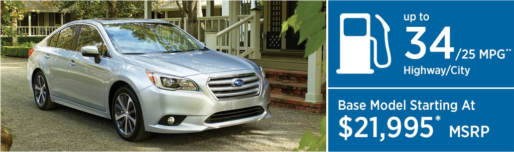 2017 Subaru Legacy MSRP and MPG