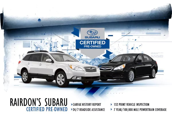 Certified Pre-Owned Subaru Vehicles at Rairdon's Subaru in  Auburn, WA