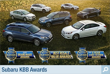 Kelley Blue Book Subaru Award Information Page