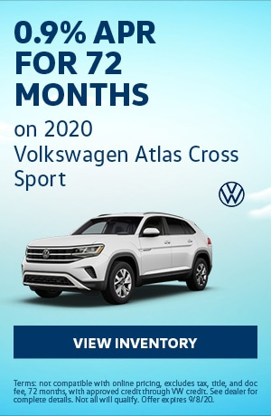August 2020 Volkswagen Atlas Cross Sport - 0.9% APR