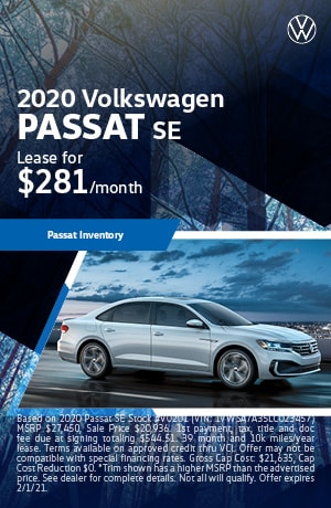 January 2020 VW Passat Lease