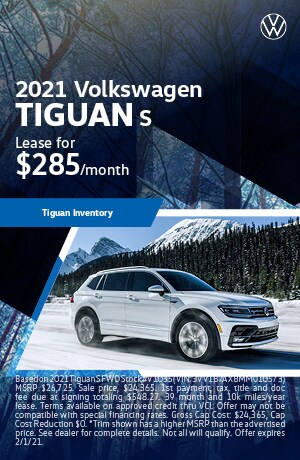 January 2021 VW Tiguan Lease