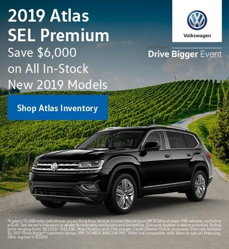 July 2019 Volkswagen Atlas SEL Premium Finance