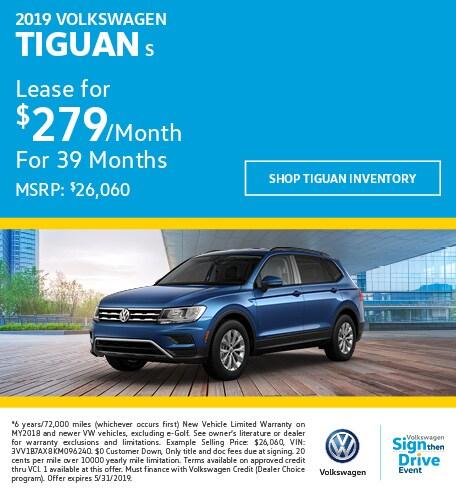 2019 Volkswagen Tiguan Lease