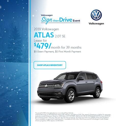 November 2019 Volkswagen Atlas SE