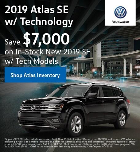 September 2019 Volkswagen Atlas Finance