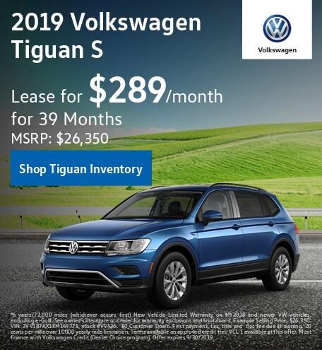 September 2019 Volkswagen Tiguan Lease