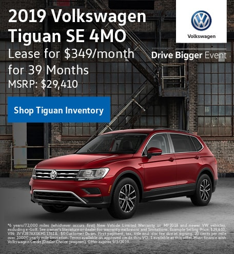 2019 Volkswagen Tiguan SE 4MO Lease