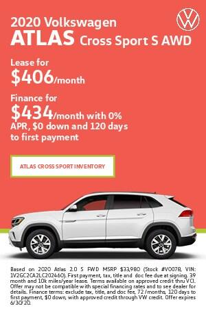 June 2020 Volkswagen Atlas Cross Sport