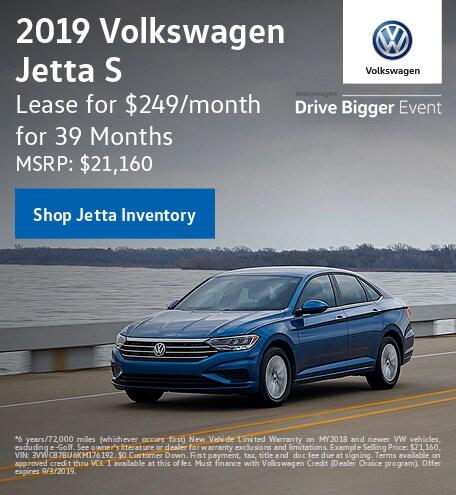 July 2019 Volkswagen Jetta S Lease