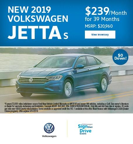 2019 Volkswagen Jetta Lease Offer