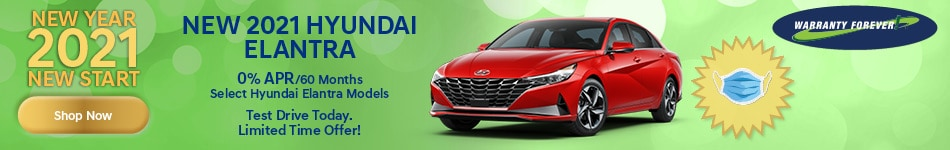 New Year 2021 New Start New 2021 Hyundai Elantra