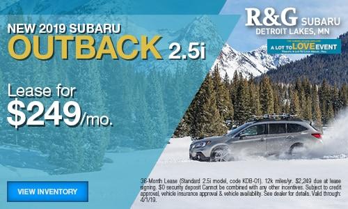 2019 Subaru Outback Lease - March