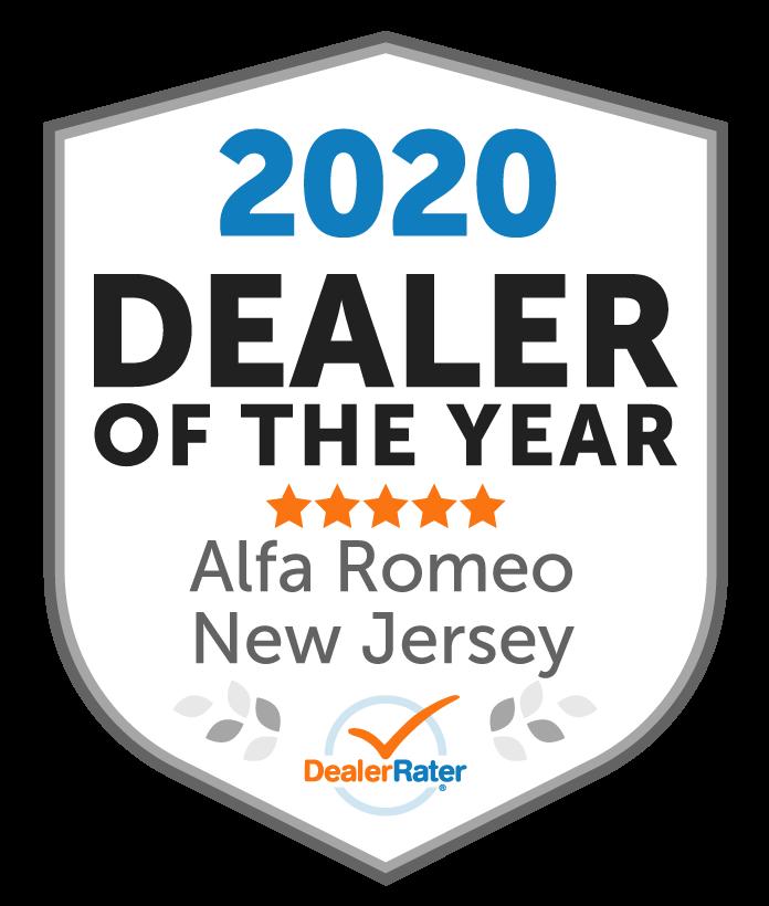 2020 DealerRater Alfa Romeo Dealer of the Year NJ