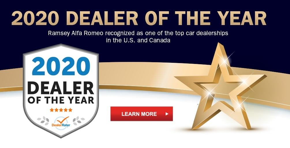 2020 DealerRater Alfa Romeo Dealer of the Year