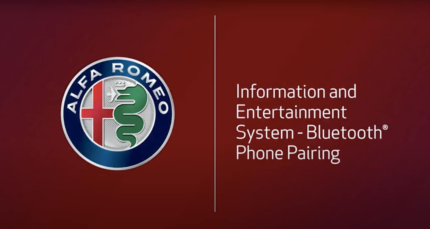 How to Connect Bluetooth to Alfa Romeo