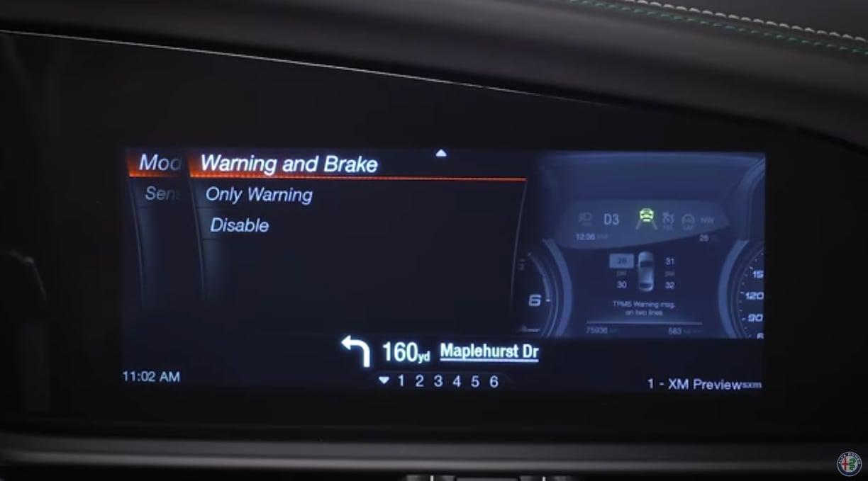 Alfa Romeo Giulia Forward Collision Warning