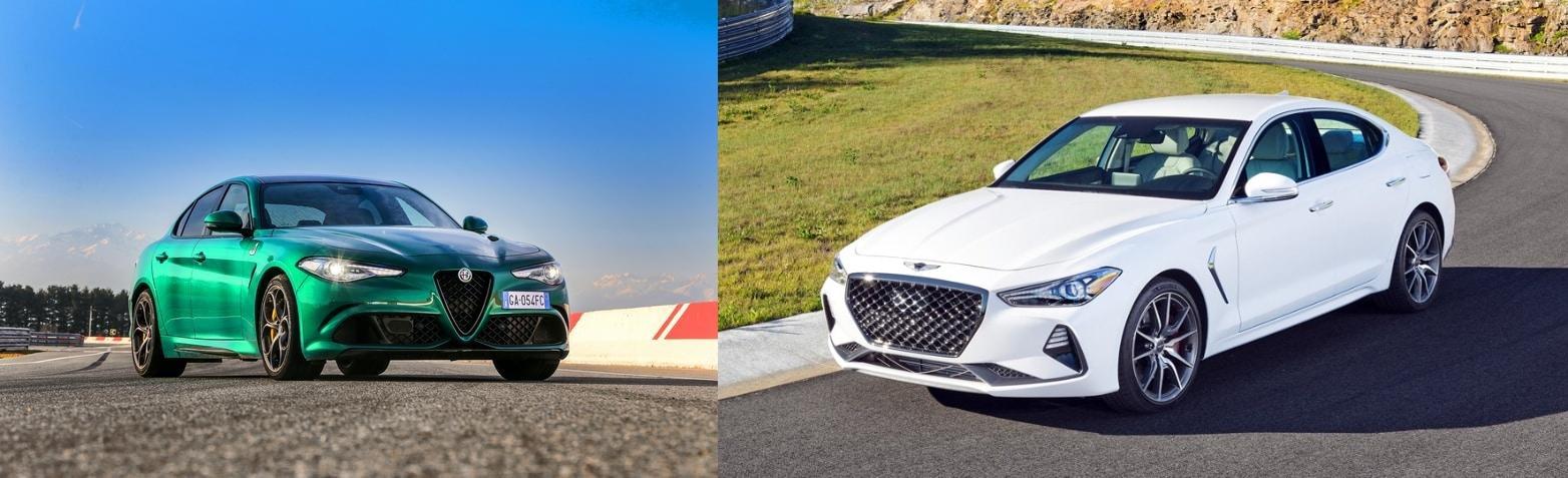 Alfa Romeo Giulia vs Genesis G70