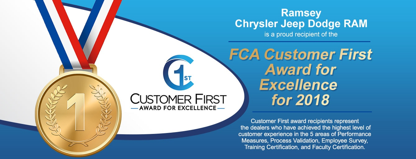 FCA Customer First Award For Excellence 2018
