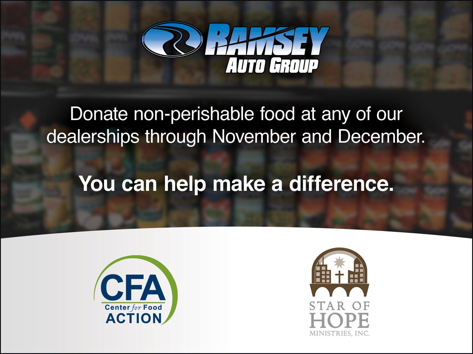 Ramsey Auto Group Food Drive