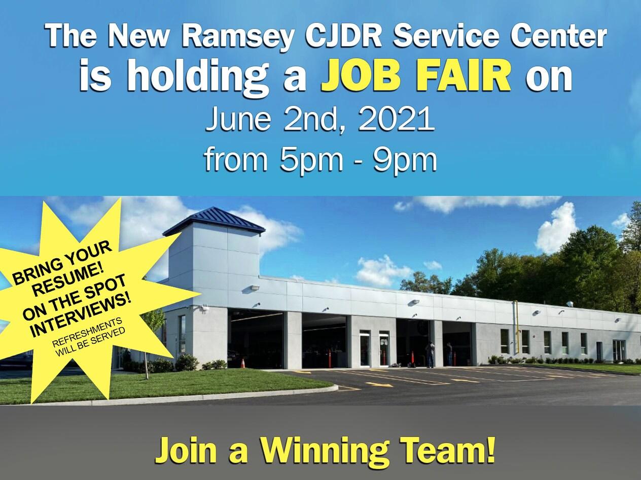 Ramsey Chrysler Jeep Dodge Ram Service Center Job Fair