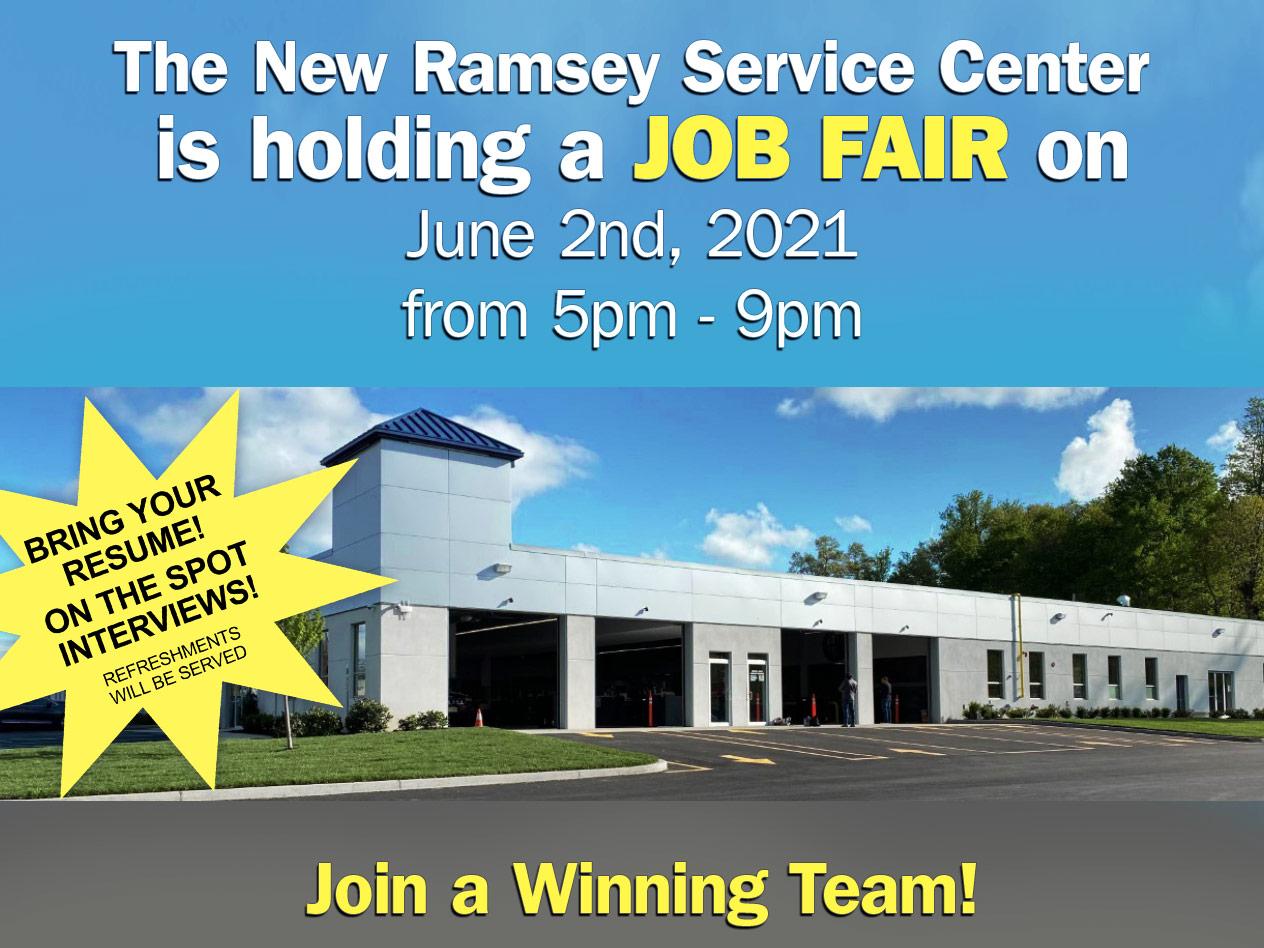 Ramsey Fiat Service Center Job Fair
