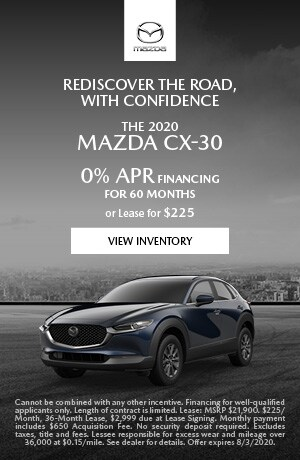July The 2020 Mazda CX-30 Offer