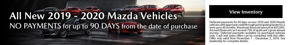 November All New 2019 - 2020 Mazda Vehicles Offer