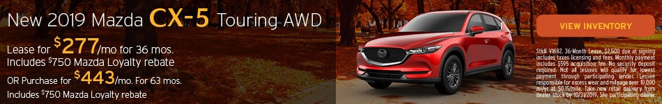 October New 2019 Mazda CX-5 Touring AWD Offer