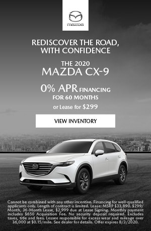 July The 2020 Mazda CX-9 Offer