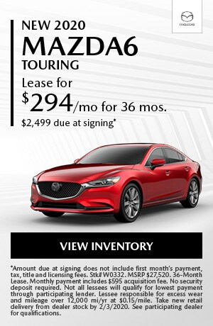 January New 2020 Mazda6 Touring Lease Offer