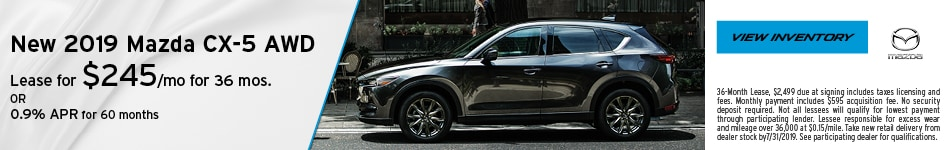 July 2109 CX-5 Lease Offer