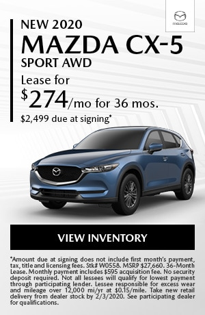 January New 2020 Mazda CX-5 Sport AWD Lease Offer