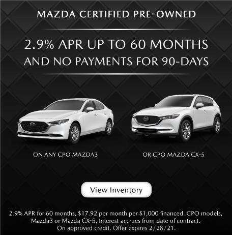 Mazda Certifies Pre-owned