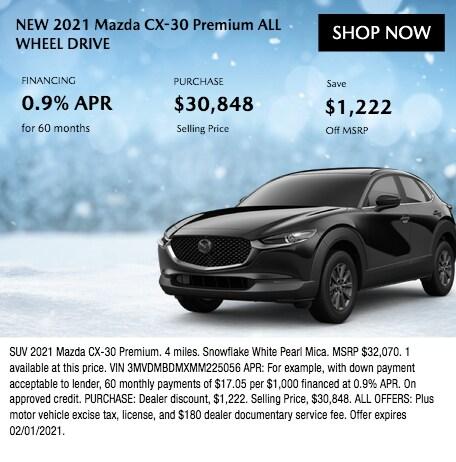 New 2021 Mazda CX-30 Premium All Wheel Drive