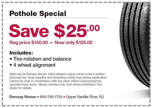Save $25.00 Reg price $150.00 - now only $125.00 Includes: • Tire rotation and balance  • 4 wheel alignment
